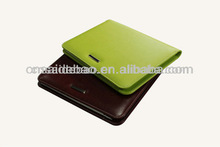Smooth surface leather business portfolio with notepad and pen holder