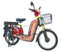 CE aprroval 350w brushless motor big spring fork loading cargo street electric bike with pedal drive for Adult