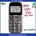 atacado fábrica na china projeto novo big teclado telefone celular idosos gps software de monitoramento