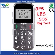 wholesale china factory new design big keyboard elderly cell phone gps tracking software