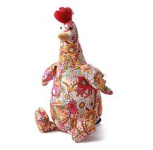 2015 new artistic design cock plush farm animal
