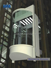 ORIA outdoor panoramic lift observation elevator for sightseeing with small machine room