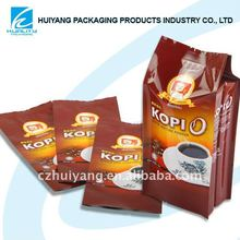 Bolsa de envases de plástico de Alimentos para el bolso escudete café
