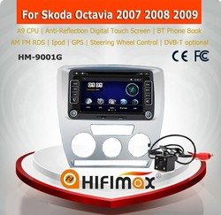HIFIMAX A9 skoda octavia car radio navigation skoda octavia car dvd gps navigation system skoda octavia 2 din dvd 2007 2008 2009