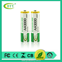 industrial matching super heavy duty R6P AA battery 350mah aa rechargeable ni-mh battery 1.2v