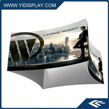 12ft Curved square Tension Fabric Graphic Ceiling Banner frames