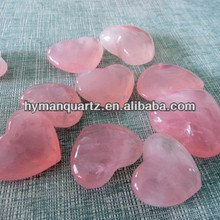 Natural polished rose crystal stone heart
