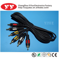 3 rca to 3rca cable for smartphone/MP3
