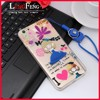 With rope pc tpu mobile phone case with for iphone 6 3d cell phone case for iphone 6 silicone case mix color