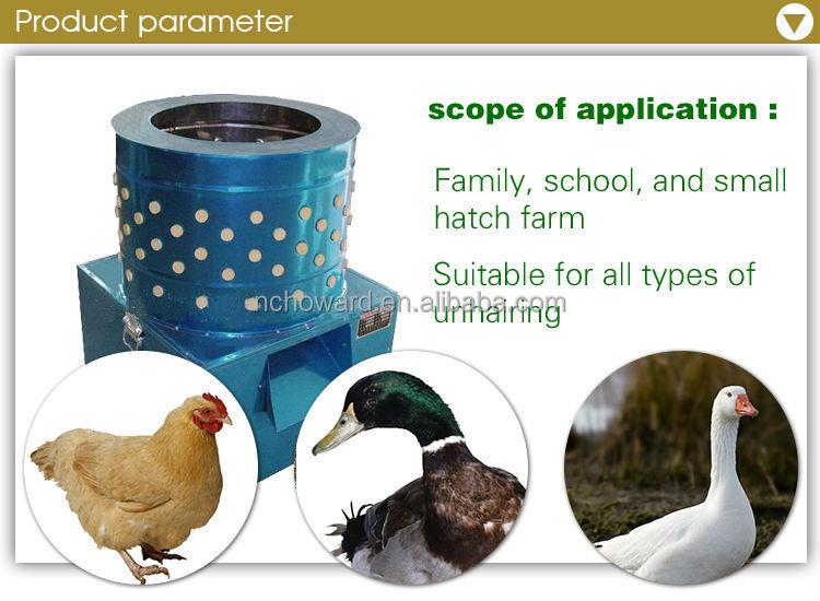plucking chickens machine