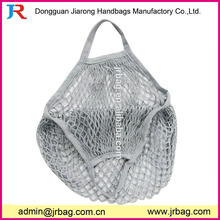 Custom printing mesh shopping bag with short handles for sale