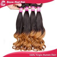 Golden Queen 6A Brazilian Remy Deep Wave Dark Blue Human Hair Weft Extensions