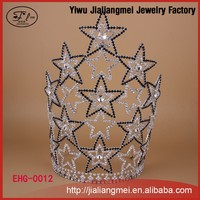 Christmas Fashion Hair Jewelry Star Tall Pageant Crown Tiara