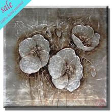 Moderna de la hoja de plata pintura al óleo en lienzo en stock HF-3805517842