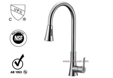 Movable Kitchen Faucet Solid Brass Mixer Tap Chrome Kithcen Faucet