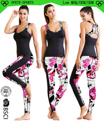 Wholesale Fitness Sexy Breathable Seamless Tank Tops and Yoga Pants Leggings Sport Clothing Sets