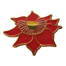 de alta calidad de la toma de metal única flor de loto broche pin placas