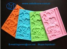 Silicone decoração do bolo molde rendas
