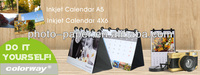 DIY photo calendar, A5/4''x6'' Size, desktop calendar as gift (precut waterproof photo paper inside,do it by yourself calendar)