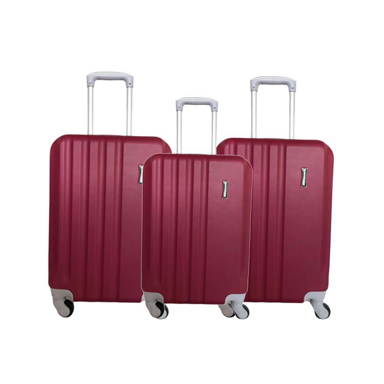 Matériau ABS Belle Qualité Coque Rigide Personnalisée Sac de Bagage de Chariot De Voyage À Vendre Avec 4 Roues De Roulement