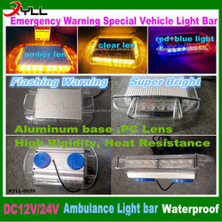 DC 12V emergency warning beacon led mini light bars for special vehicle police flash warning mini led lightbar