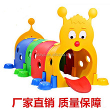 kids' caterpillar plastic play tunnel