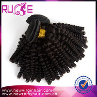 5A Brazilian human hair kinky curly natural hair extensions raw unprocessed virgin kinky nubian twist 20'' free shipping