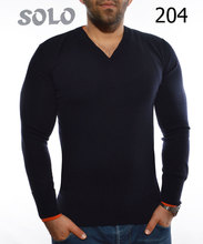 Men's V Neck Fine Merino Wool knitwear sweater