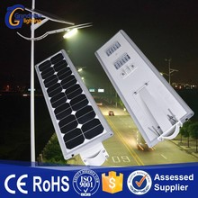 Newest design waterproof solar integrated street light with lithium battery