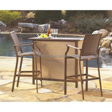 rattan wicker outdoor bar set high top bar tables and chairs for events