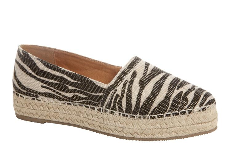2016 mujeres leopard plataforma resbalón en los zapatos de alpargata