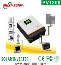 Must high efficiency Pure Sine Wave Hybrid off grid Inverter PV18-3K 24v 3KVA MPPT solar power system