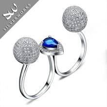 Lead Free Flexible Pure Silver Index Finger Rings Jewelry S925