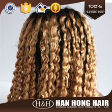 High Density short blonde u part human hair full lace wig