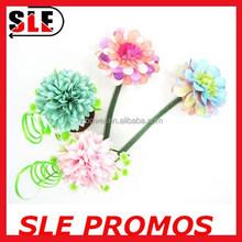 novelty promotion pincushion flower top pen