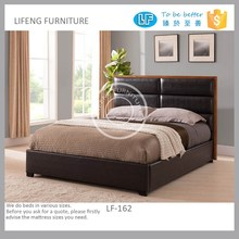 Contemporary platform bed with soft headboard, LF-162