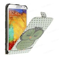 Green Sleeping Owl Vertical Leather Flip Case for Samsung Galaxy Note 3 N9000