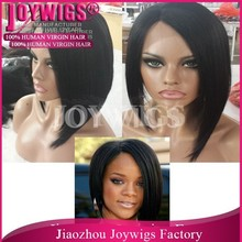 2015 Fashional Popular High Quality Remy Indian Human Hair Grey Lace Front Wig