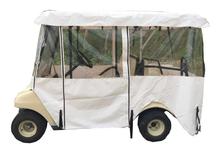 White Color Golf Cart Rain Cover For Club Car Precedent 4 Seat Car