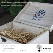 HONGDAO popular christmas gift box,wooden box with discount