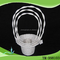 wholesale china goods Wood Flower Girl Basket