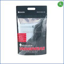 Custom Matt Plastic Stand up Bag With Zipper/Underwear Packing Bag