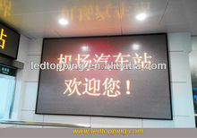 Supplying station scrolling message and text led display screen boards