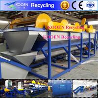High efficiency waste plastic pe/pp film recycling line