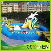 New Point Top Hot Selling Inflatable slide, Large Plastic Swimming Pool