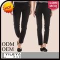 prendas de día de diseño simple negro pantalones casuales 2014 las mujeres
