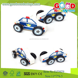 Wholesale And New Item Wooden Car Model Toys, Wooden Police Car Model For Kids