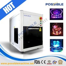 Possible brand surface and inner crystal laser engraving system