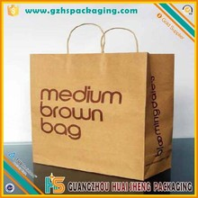 Recycle eco friendly brown paper bag shopping kraft paper bag italy flag paper bag design