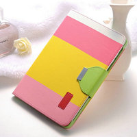 West Union Paypal Drop Shipping Free Sample Bright Young Colors Hybrid Anti-shock Protective PU Leather Case for Ipad Mini